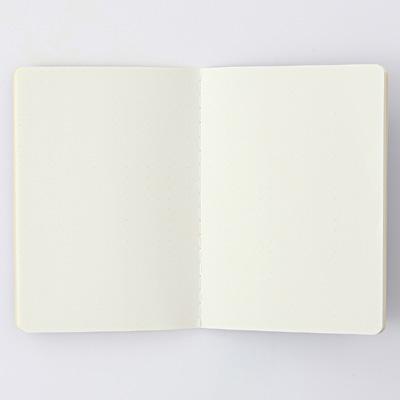 再生紙パスポートメモ ドット方眼・125×88mm・24枚・紺 税込120円